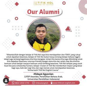 Alumni Beasiswa Kampung Inggris