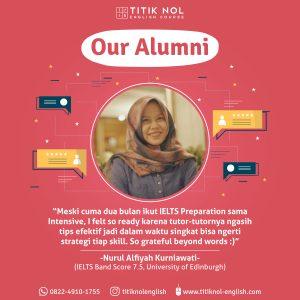 Alumni Kursus IELTS Terbaik Kampung Inggris-Nurul