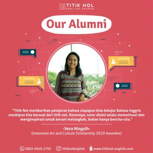 Alumni Paket Kursus Termurah Kampung Inggris Vera